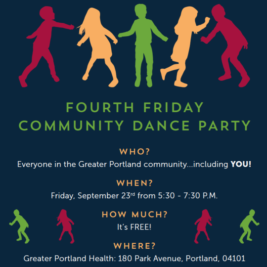Fourth Friday Community Dance Party- Friday, September 23rd